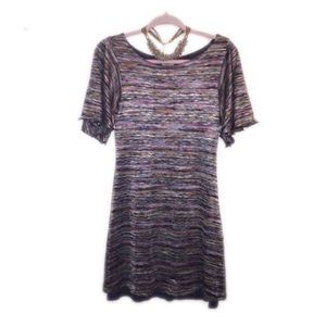Ecote Bell Sleeve Dress with Necklace
